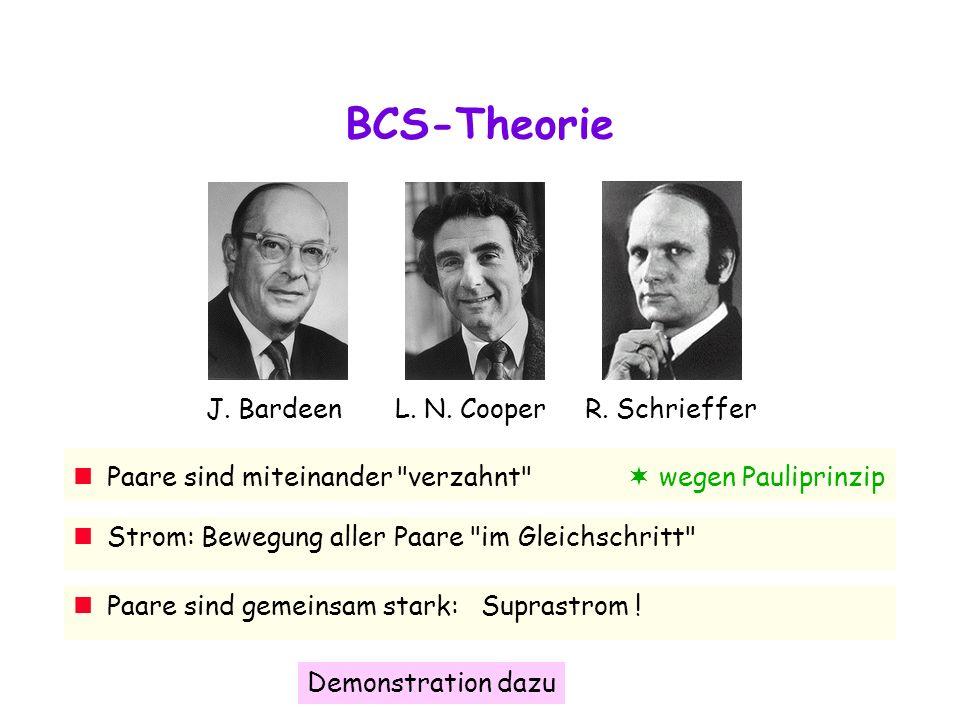 BCS-Theorie J. Bardeen L. N. Cooper R. Schrieffer