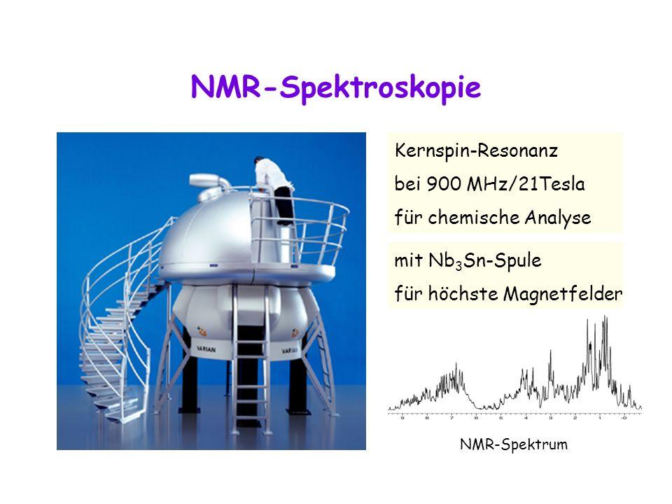 NMR-Spektroskopie Kernspin-Resonanz bei 900 MHz/21Tesla