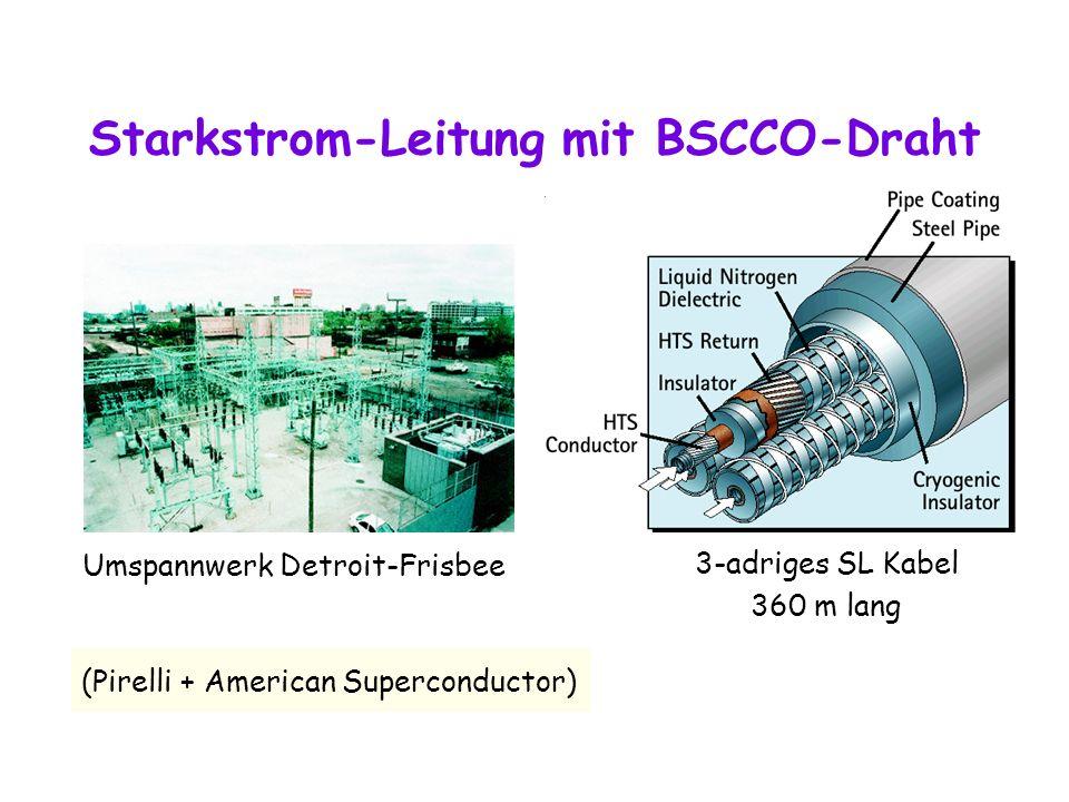 Starkstrom-Leitung mit BSCCO-Draht