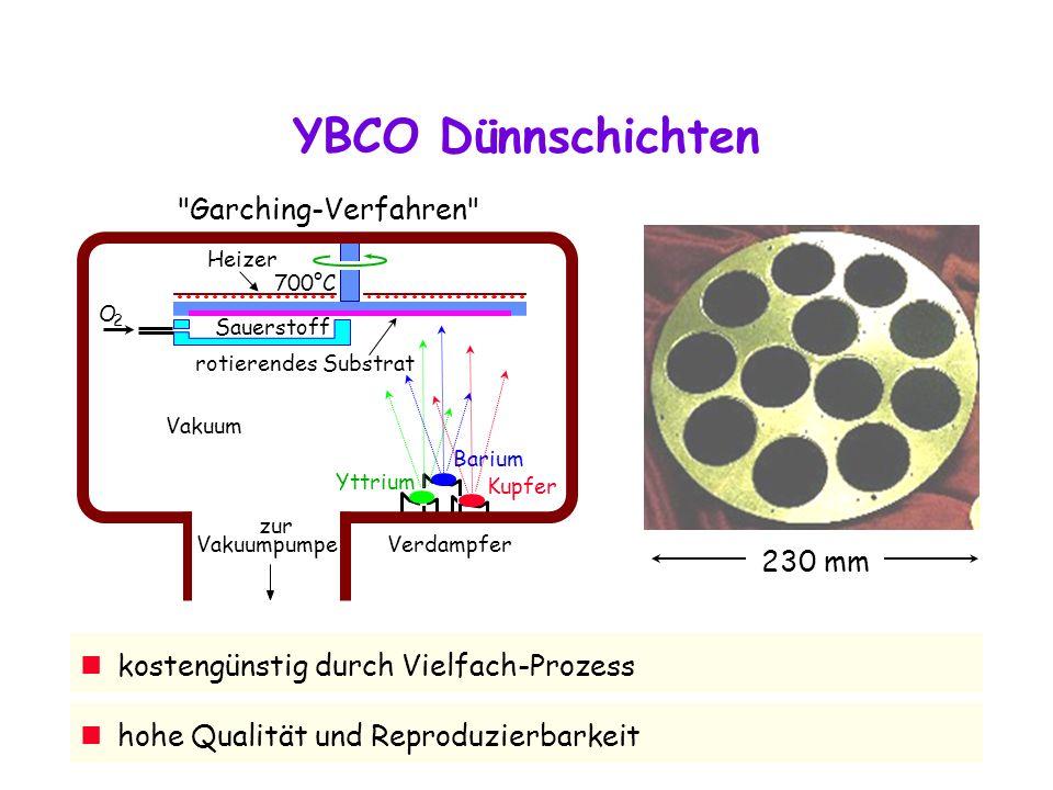YBCO Dünnschichten Garching-Verfahren 230 mm