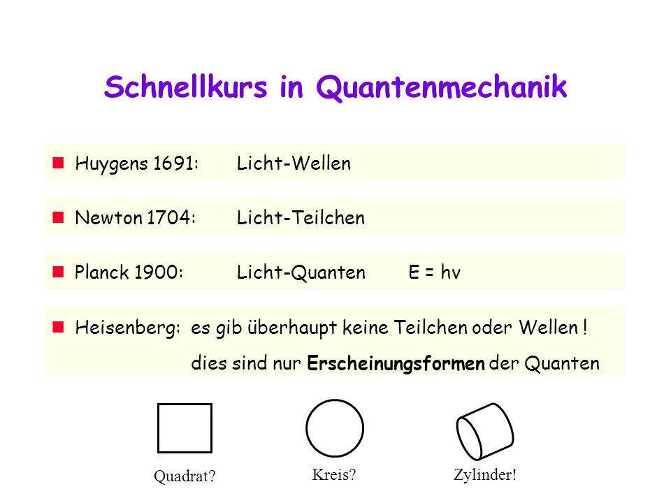 Schnellkurs in Quantenmechanik