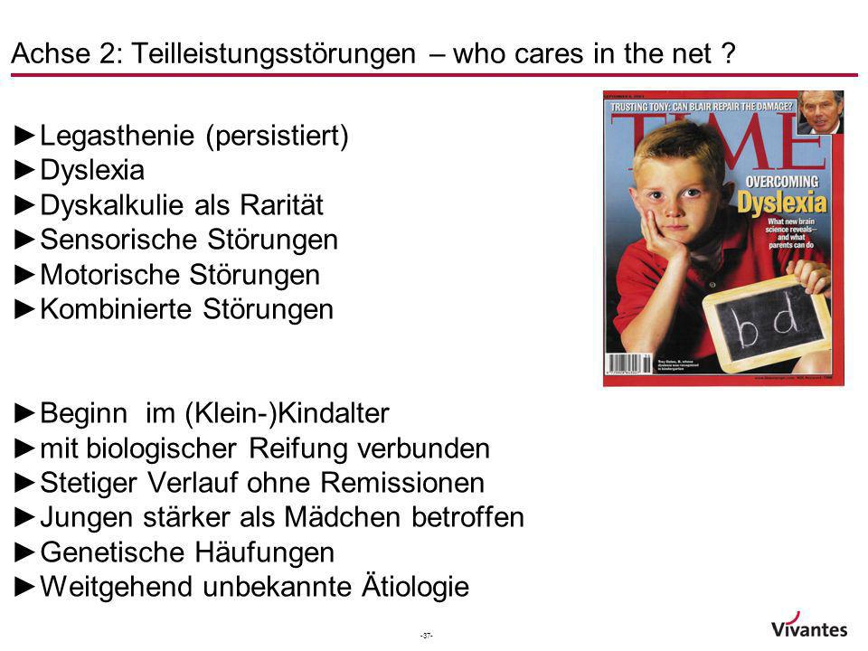 Achse 2: Teilleistungsstörungen – who cares in the net