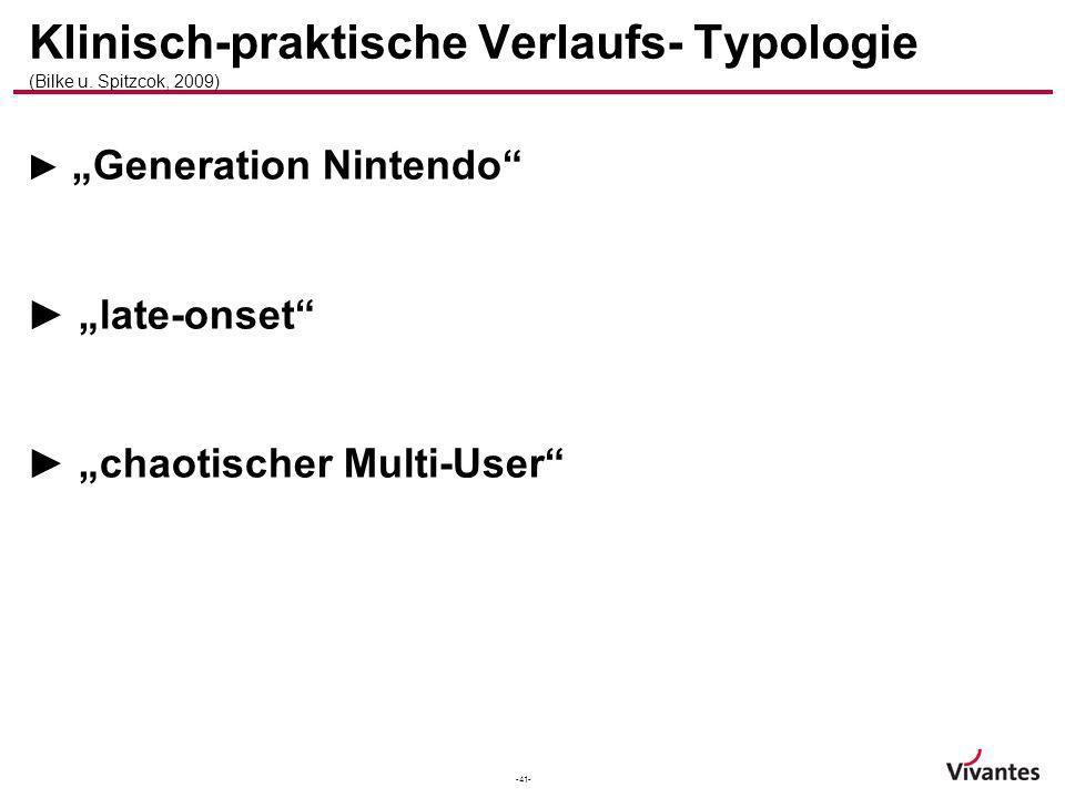 Klinisch-praktische Verlaufs- Typologie (Bilke u. Spitzcok, 2009)