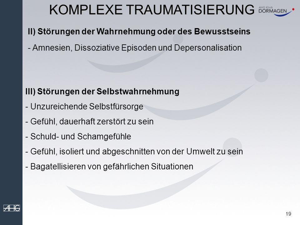 KOMPLEXE TRAUMATISIERUNG