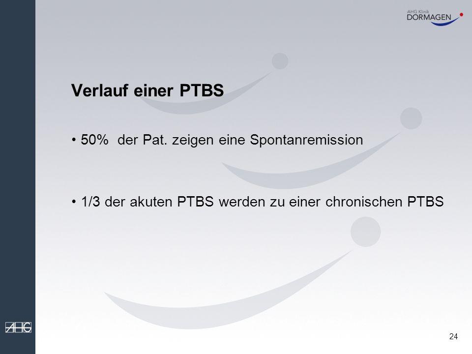 Verlauf einer PTBS 50% der Pat. zeigen eine Spontanremission
