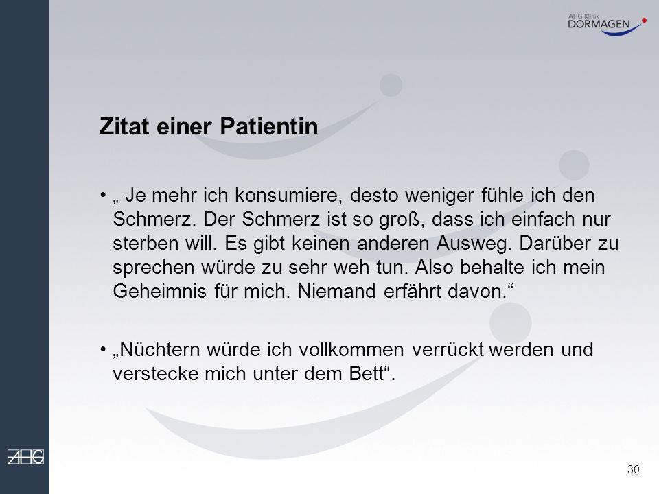 Zitat einer Patientin