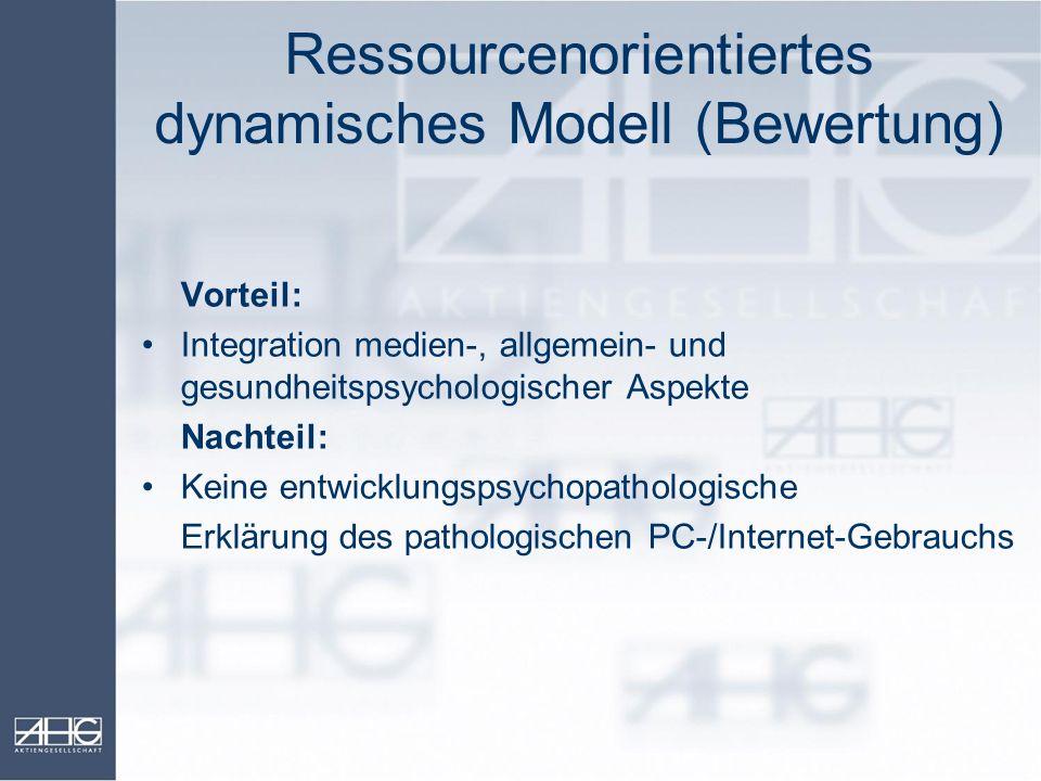 Ressourcenorientiertes dynamisches Modell (Bewertung)