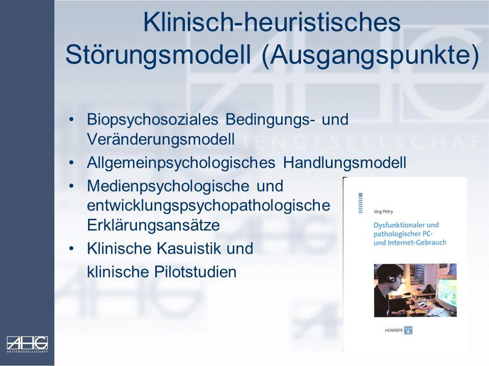 Klinisch-heuristisches Störungsmodell (Ausgangspunkte)