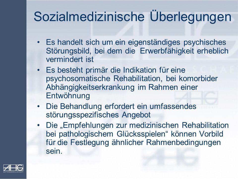 Sozialmedizinische Überlegungen