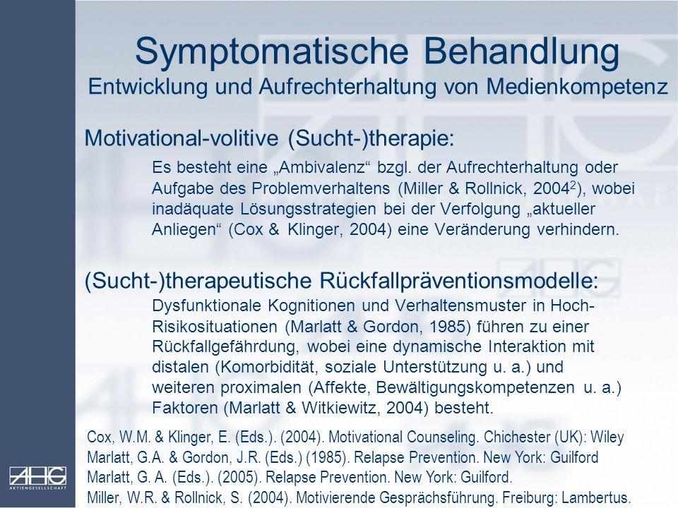 Symptomatische Behandlung Entwicklung und Aufrechterhaltung von Medienkompetenz