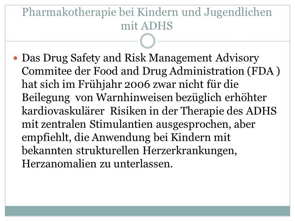 Pharmakotherapie bei Kindern und Jugendlichen mit ADHS