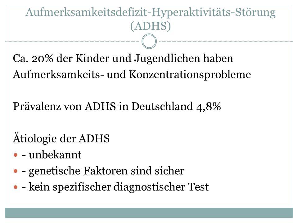 Aufmerksamkeitsdefizit-Hyperaktivitäts-Störung (ADHS)