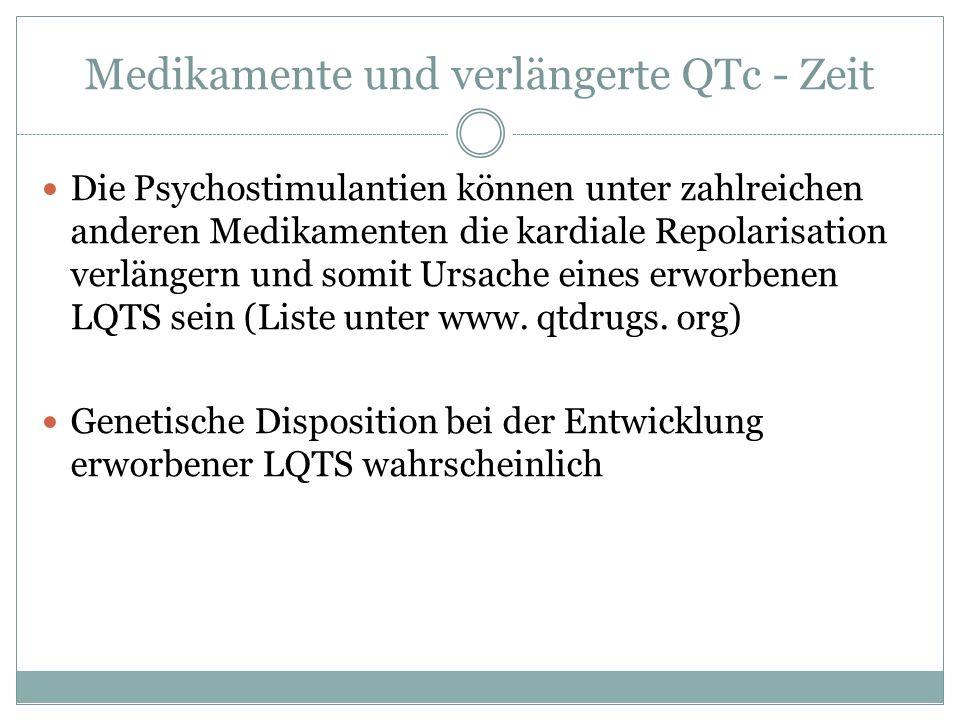 Medikamente und verlängerte QTc - Zeit