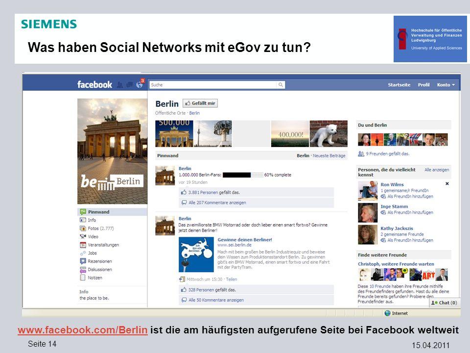 Was haben Social Networks mit eGov zu tun