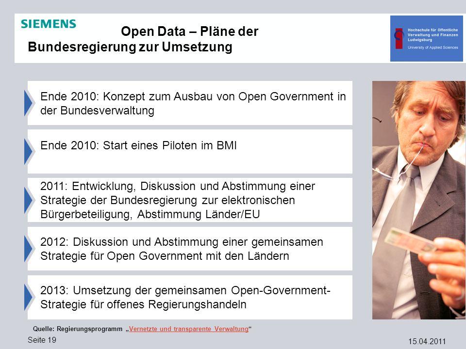 Open Data – Pläne der Bundesregierung zur Umsetzung