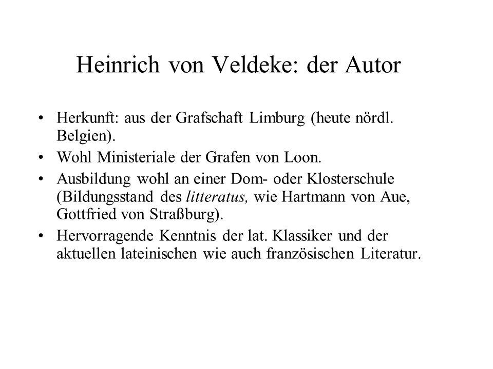 Heinrich von Veldeke: der Autor