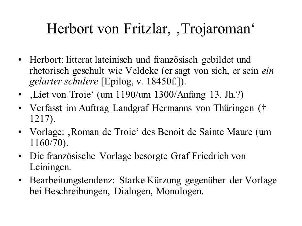 Herbort von Fritzlar, 'Trojaroman'
