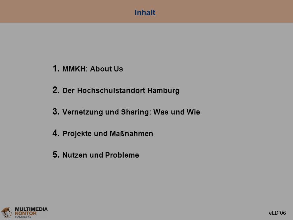 Inhalt MMKH: About Us Der Hochschulstandort Hamburg