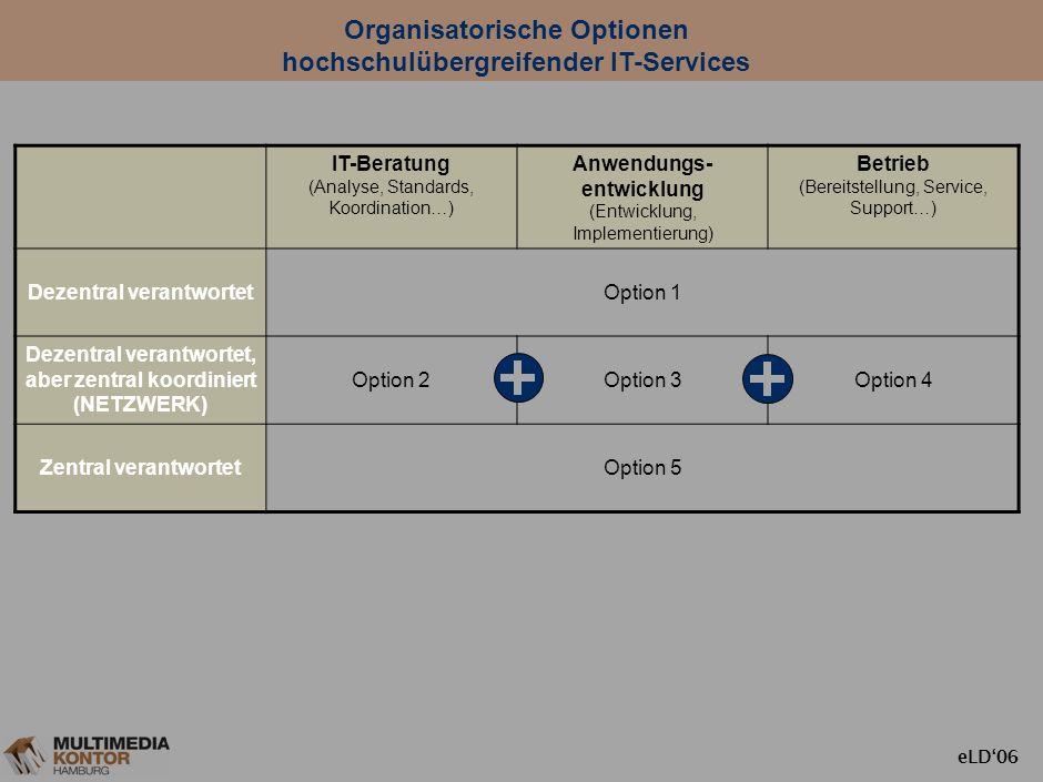 Organisatorische Optionen hochschulübergreifender IT-Services