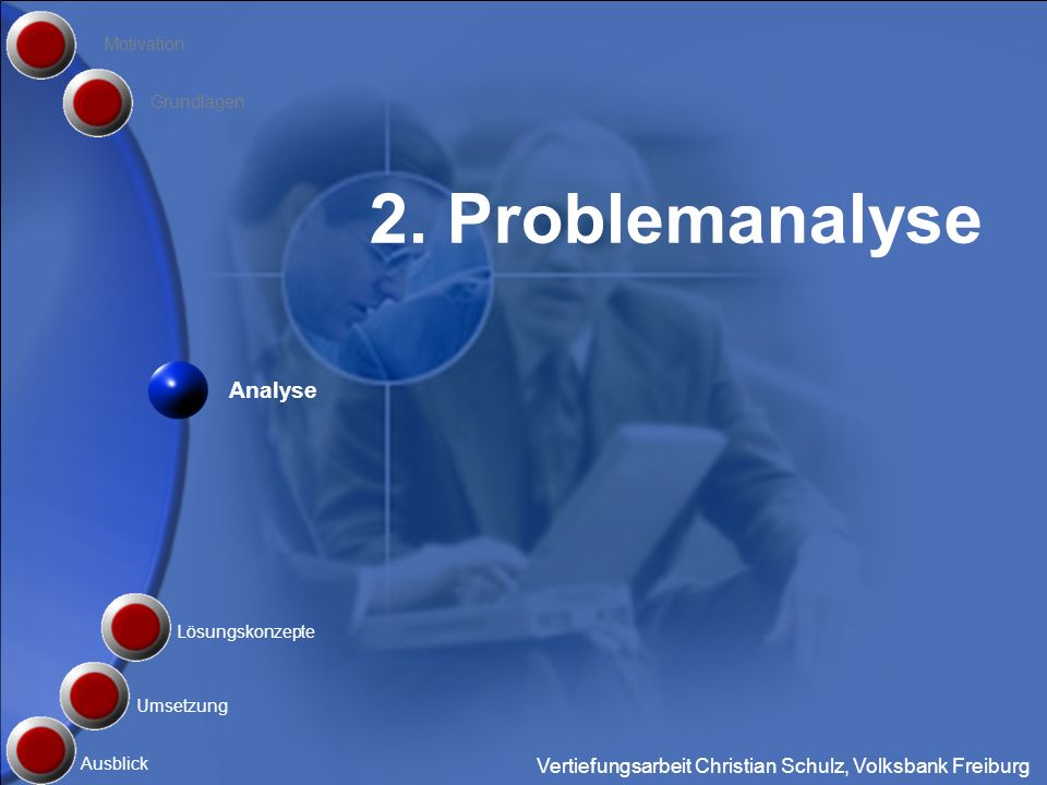 2. Problemanalyse Analyse
