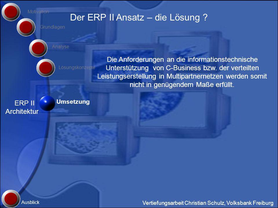 Der ERP II Ansatz – die Lösung