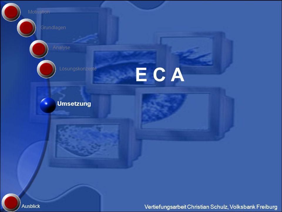 E C A Umsetzung Vertiefungsarbeit Christian Schulz, Volksbank Freiburg
