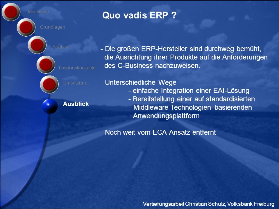 Quo vadis ERP Motivation. Grundlagen. Analyse.