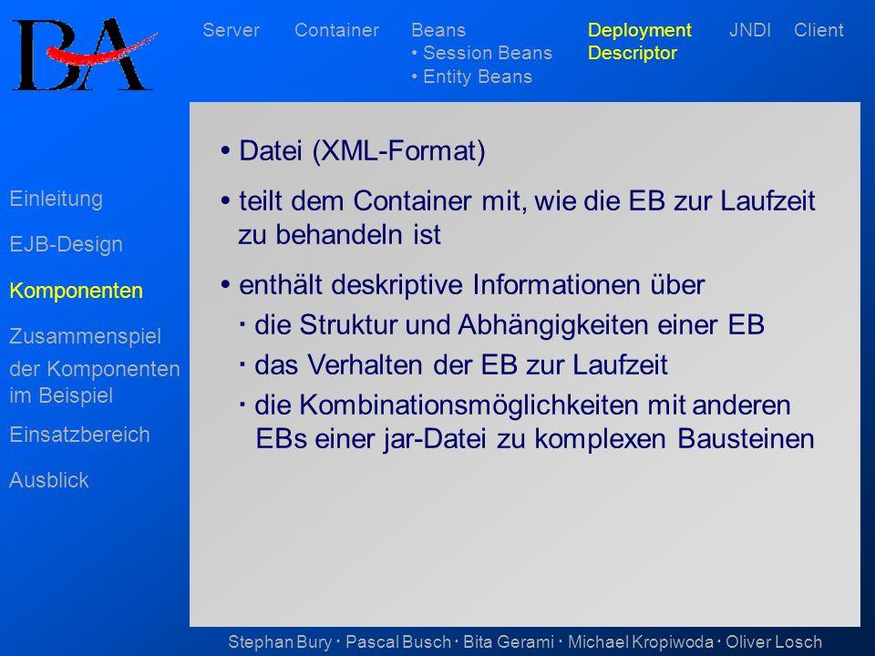  teilt dem Container mit, wie die EB zur Laufzeit zu behandeln ist