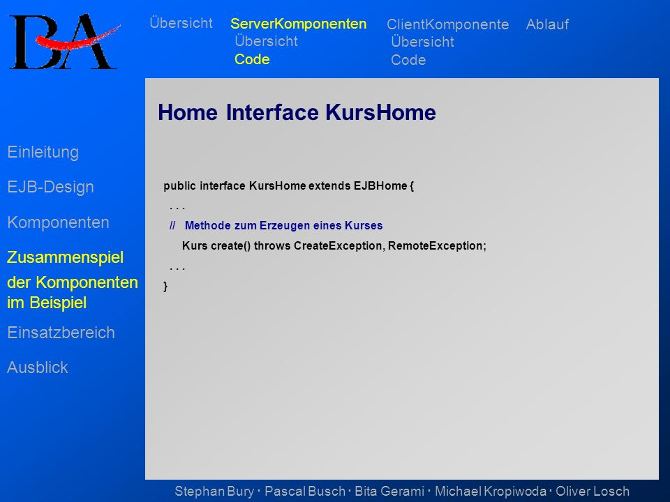 Home Interface KursHome