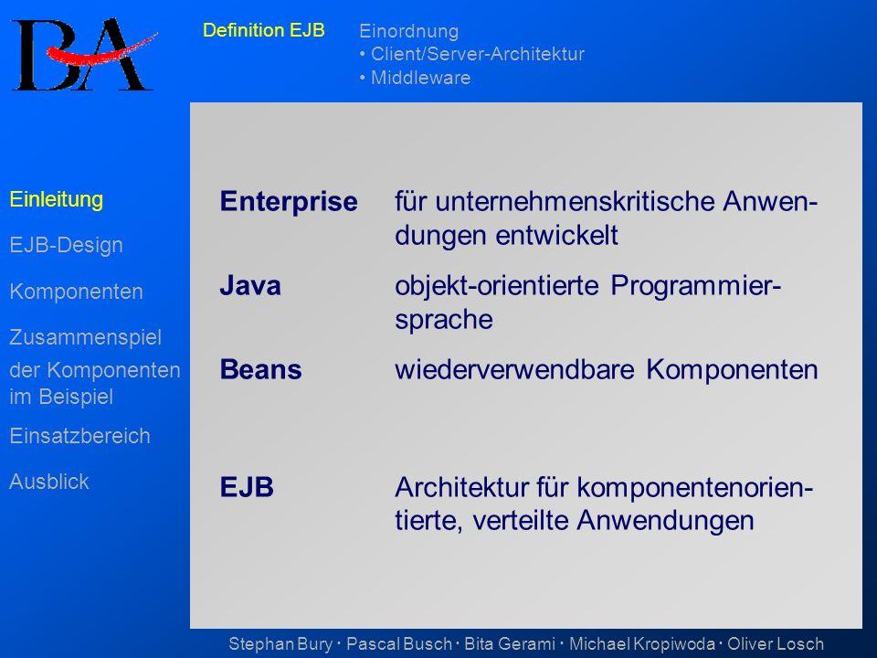 Enterprise für unternehmenskritische Anwen- dungen entwickelt