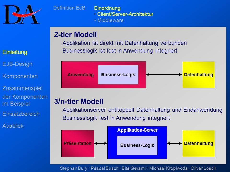 2-tier Modell 3/n-tier Modell