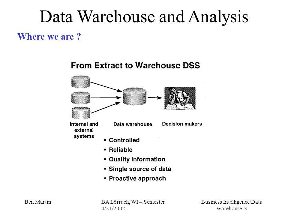 Data Warehouse and Analysis