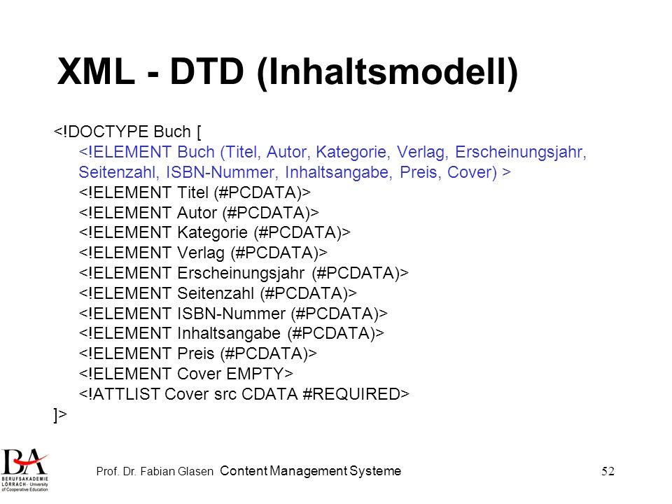 XML - DTD (Inhaltsmodell)