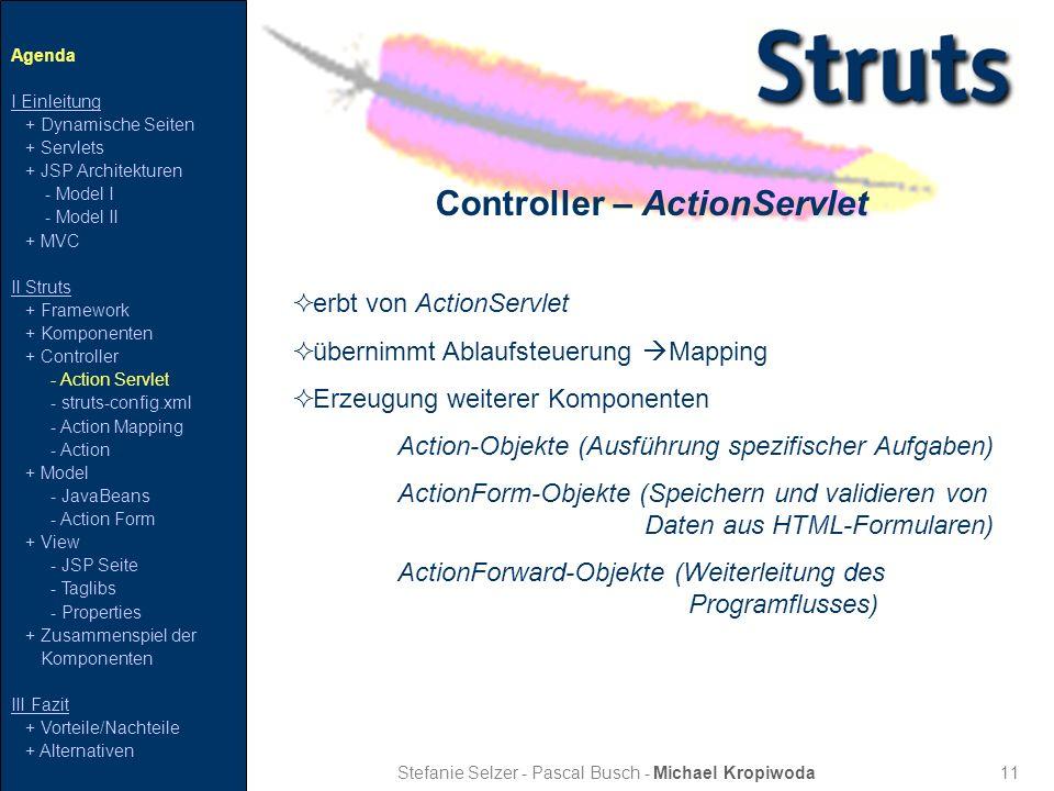 Controller – ActionServlet