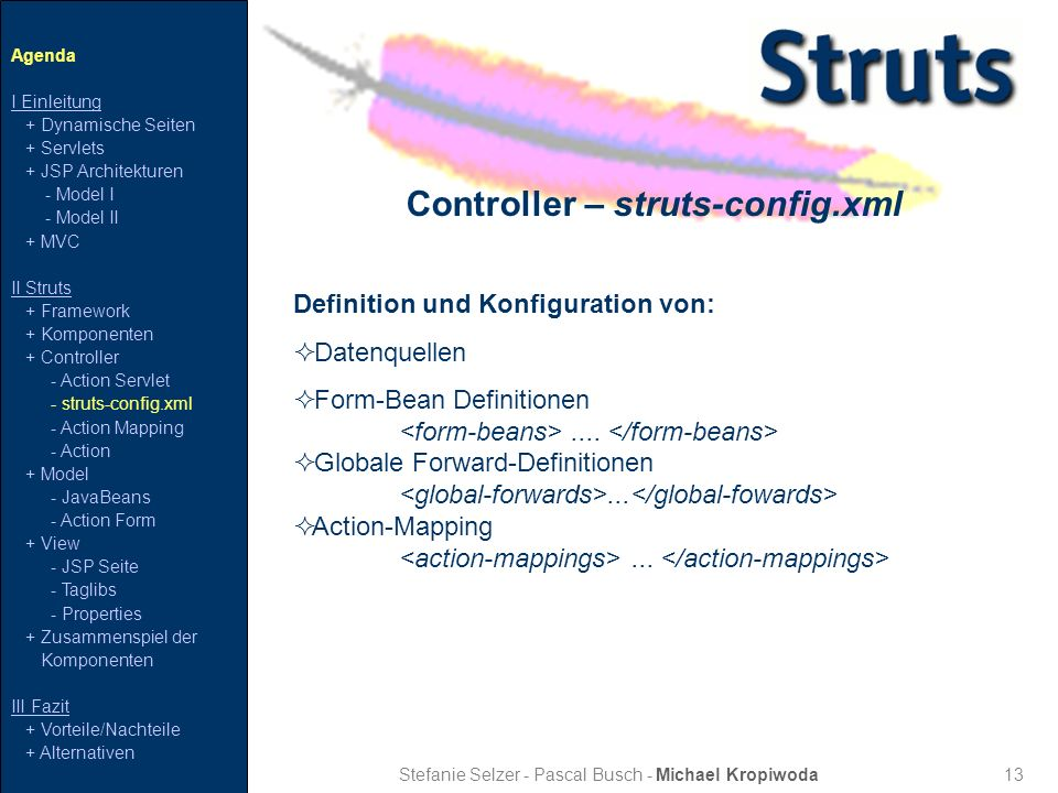 Controller – struts-config.xml