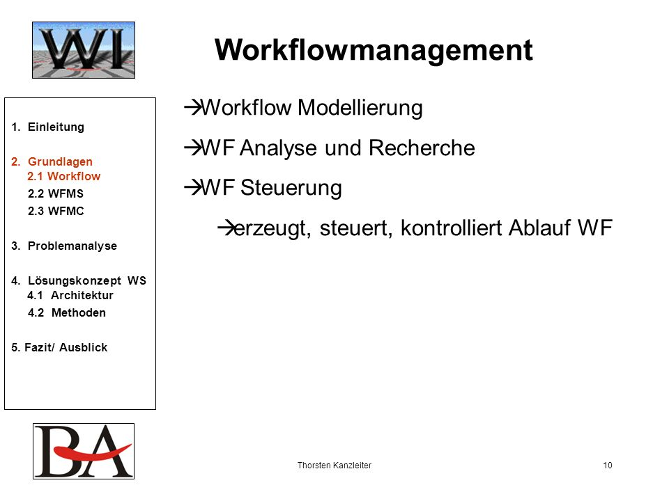Workflowmanagement Workflow Modellierung WF Analyse und Recherche