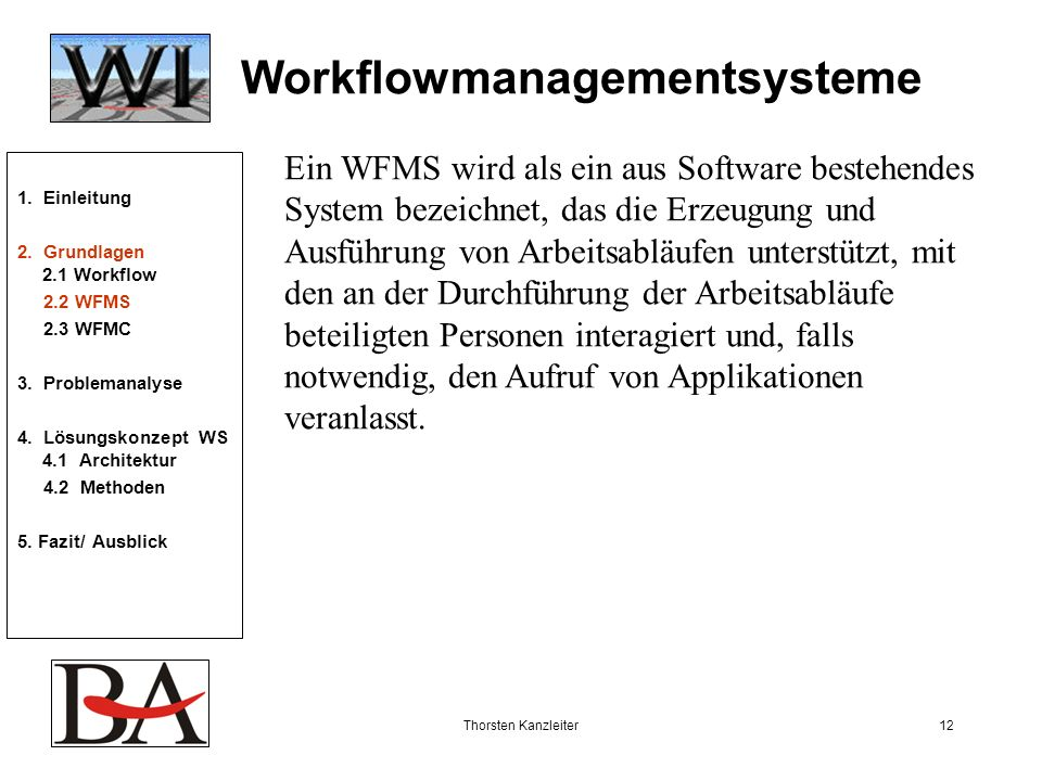 Workflowmanagementsysteme