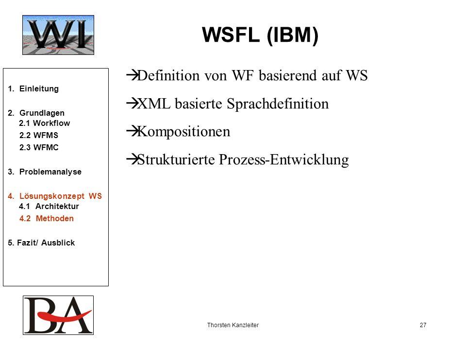 WSFL (IBM) Definition von WF basierend auf WS