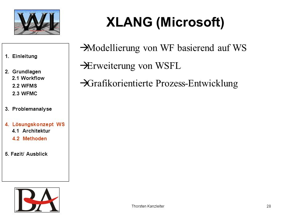 XLANG (Microsoft) Modellierung von WF basierend auf WS