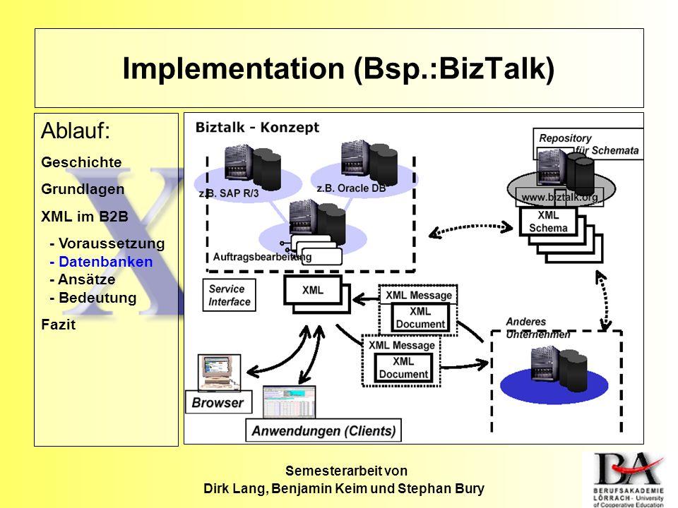 Implementation (Bsp.:BizTalk)