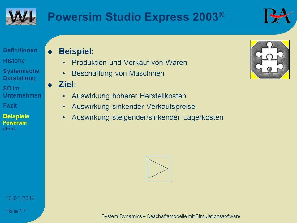 Powersim Studio Express 2003®