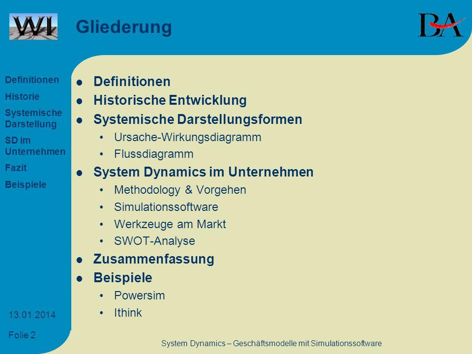 System Dynamics – Geschäftsmodelle mit Simulationssoftware