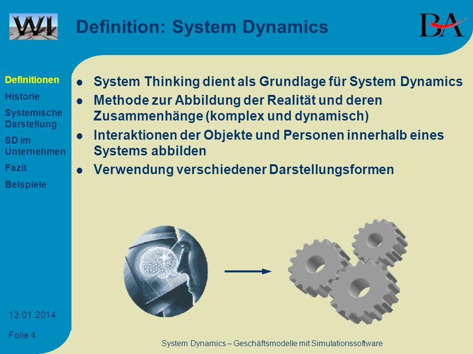 Definition: System Dynamics