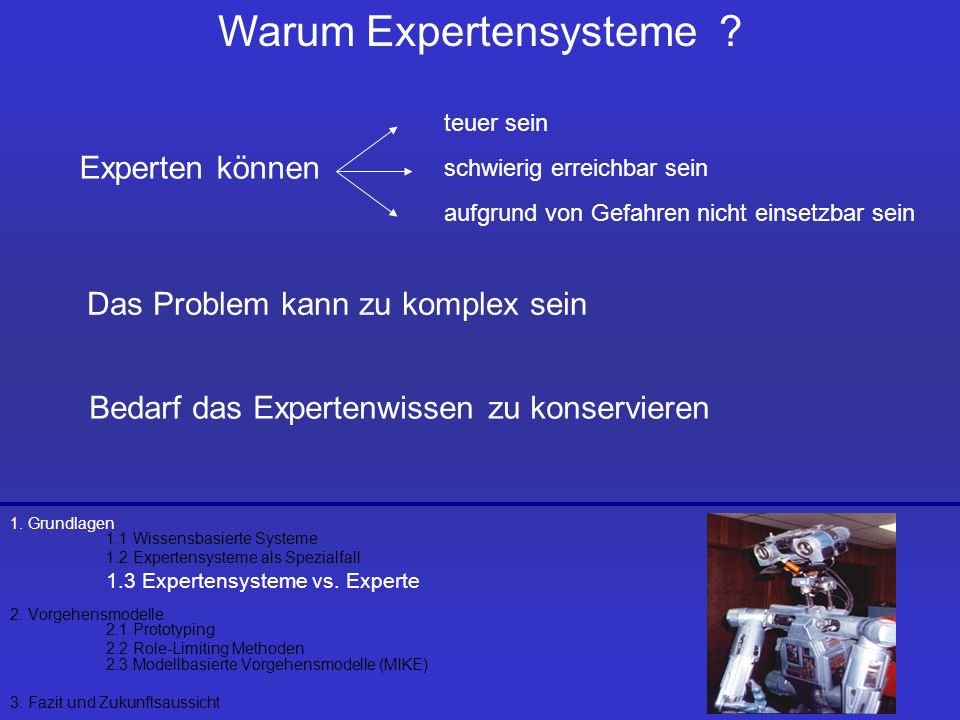 Warum Expertensysteme