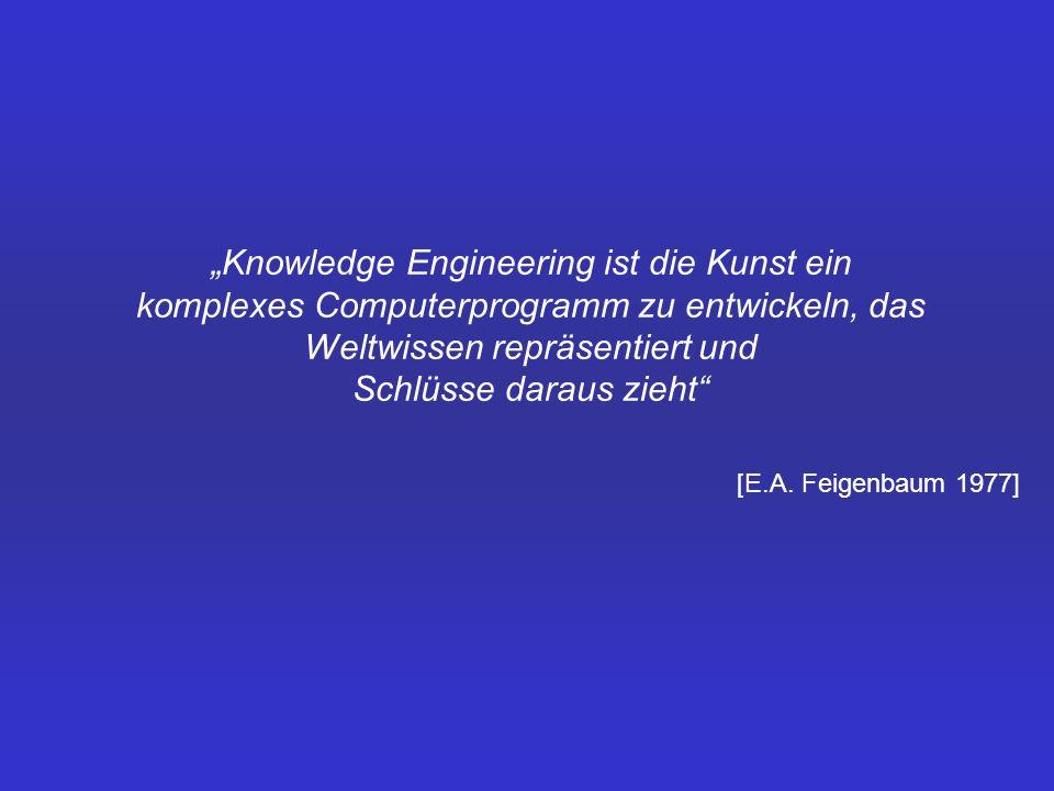 """""""Knowledge Engineering ist die Kunst ein komplexes Computerprogramm zu entwickeln, das Weltwissen repräsentiert und Schlüsse daraus zieht"""