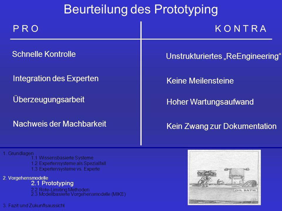 Beurteilung des Prototyping