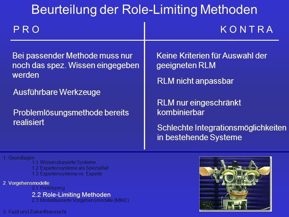 Beurteilung der Role-Limiting Methoden