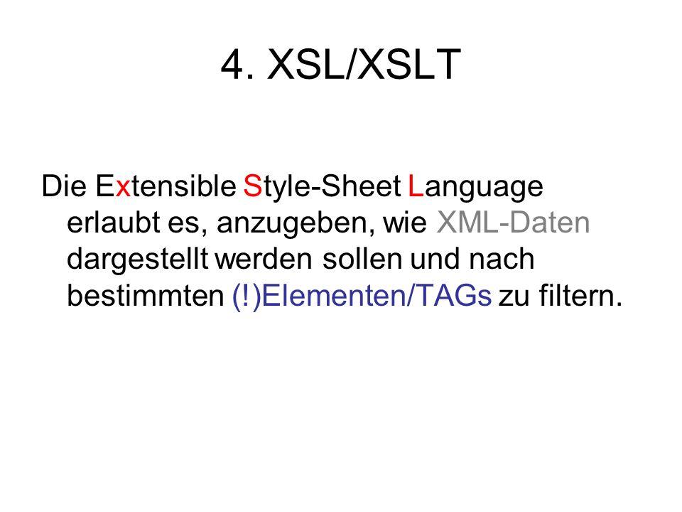 4. XSL/XSLT