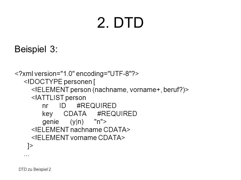 2. DTD Beispiel 3: