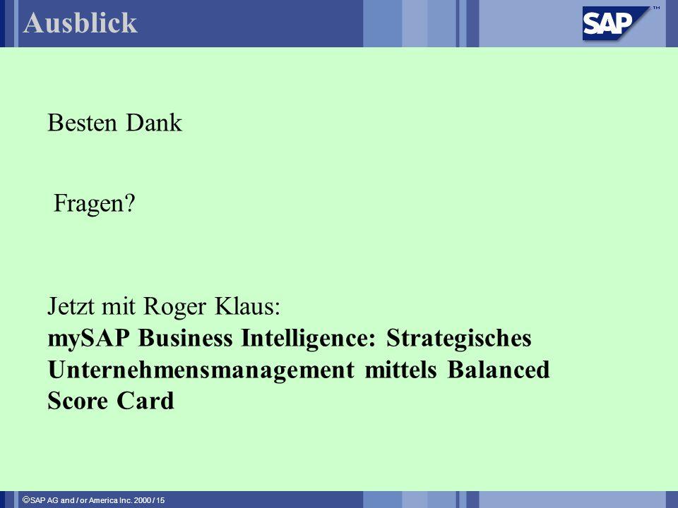 Ausblick Besten Dank Fragen Jetzt mit Roger Klaus: